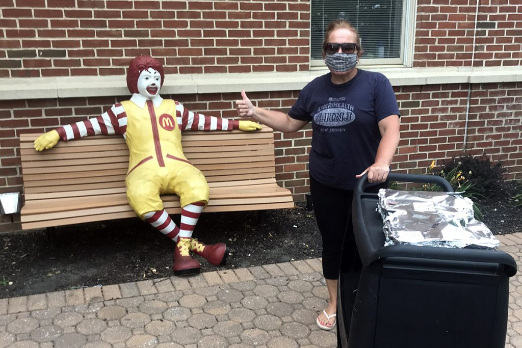 Mary McLean-Yabor, delivering meals for the Ronald McDonald House of Southern New Jersey