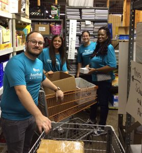 AmeriHealth New Jersey volunteers at a 2019 Day of Caring program.